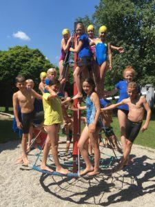 Gruppenbild SchwimmerInnen Soli Ismaning