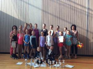 Siegerehrung der Bayrischen Meisterschaft im Rollkunstlauf